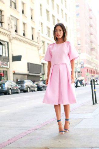 Pink + Pleated