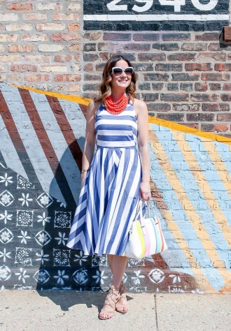 Blue Stripes + Red