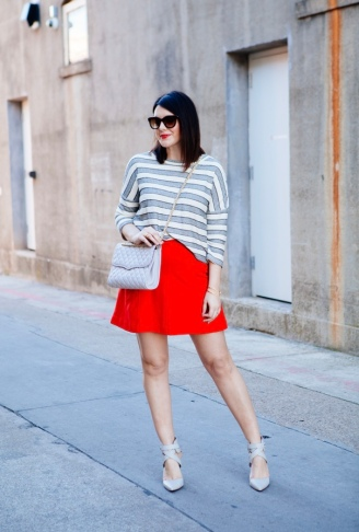 Crimson + Grey Stripes