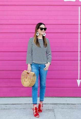 Stripes + Red Tassels