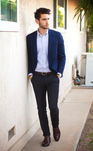 Blue Oxford + Navy Blazer