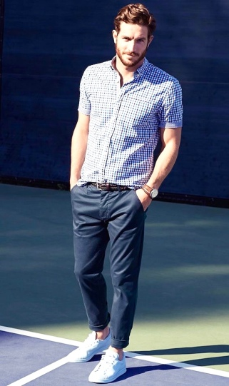 White Trainers + Gingham