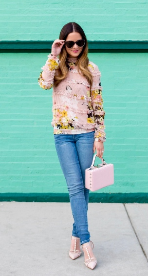 Pink Pastel Ruffled Top