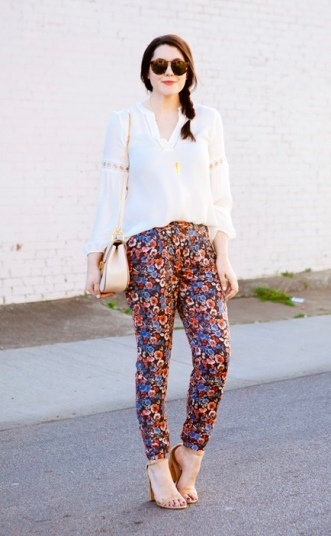 Mixed Floral Pants