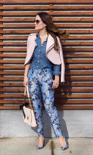 Light Blue Floral + Chambray