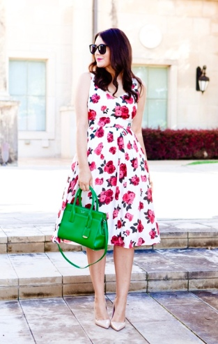 Fit n Flare Rose Dress