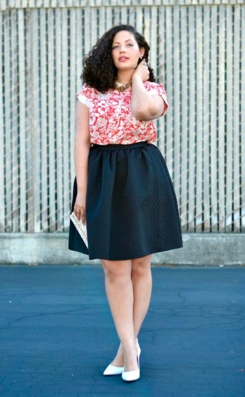 Red Floral Top + Skirt