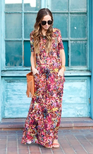Printed Maxi With Pockets