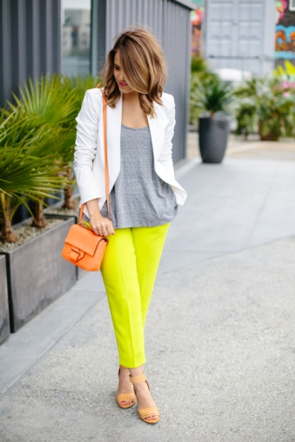 Lime + Orange + Grey