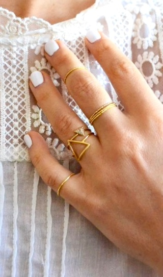 All Gold + Geometric Pattern
